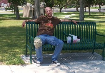 a photo of me on a bench